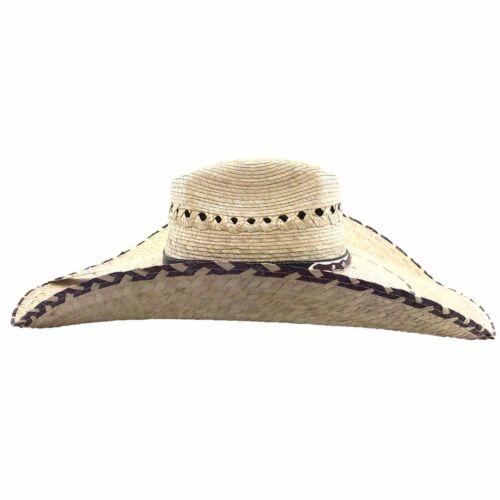"NEW 20/"" Milani Guacho Cowboy Ranch Large Straw Hat 21/"""