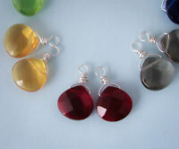 1 Pair Sterling Silver Interchangeable Earring Drops Charms Briolettes Dangles