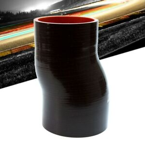 Black High Temp 4-ply Reinforced HPS 3-3-1//2 ID 6 Length,Silicone Offset Reducer Coupler Hose