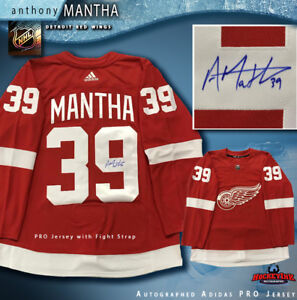 cheap for discount d09bd c98e6 ANTHONY MANTHA Signed Detroit Red Wings Red Adidas PRO ...