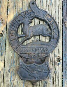 Vintage John Deere Cast Iron  Sign, 1847 Moline ILL