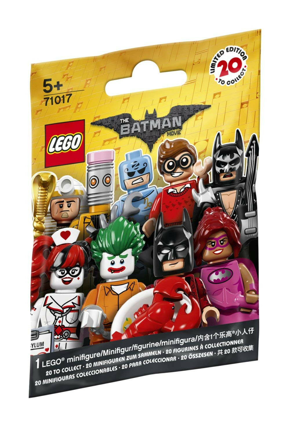 10 sealed Blind Bags LEGO Minifigures – The Movie Batman Series 71017