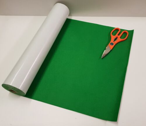 BAIZE 1 mtr x 450mm wide roll of MEADOW GREEN STICKY BACK SELF ADHESIVE FELT