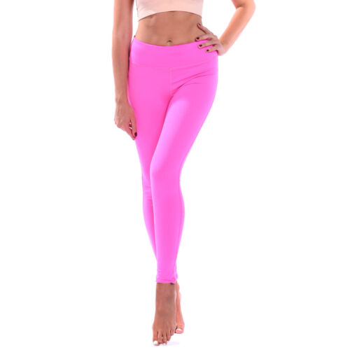 Women/'s Capri Cropped Leggings Plain Yoga Pants for Gym Fitness Workout Running