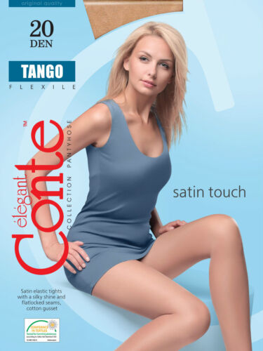 CONTE Elegant Women/'s Ladies Satin Touch Nylon Tights 20 Den TANGO S M L XL