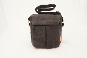 Gray-Camera-case-bag-Canvas-for-Pentax-Q-S1-Q10-Q-grey-New