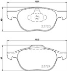 Mintex MDB2634 Brake Pad Set