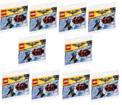 X10 Lego BATMAN IN THE PHANTOM ZONE Polybag 30522 Figure Joblot Bundle
