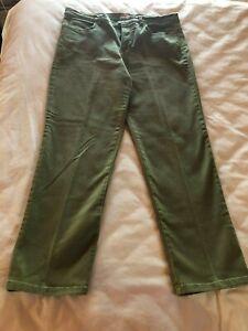 Para Mujeres Jeans Pantalones Verde Oliva Estiramiento Faded Glory Talla 16 Petite Ebay