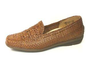 Details zu Waldläufer Schuhe Slipper Harriet Flecht braun cognac Leder Weit Gr. 40,5