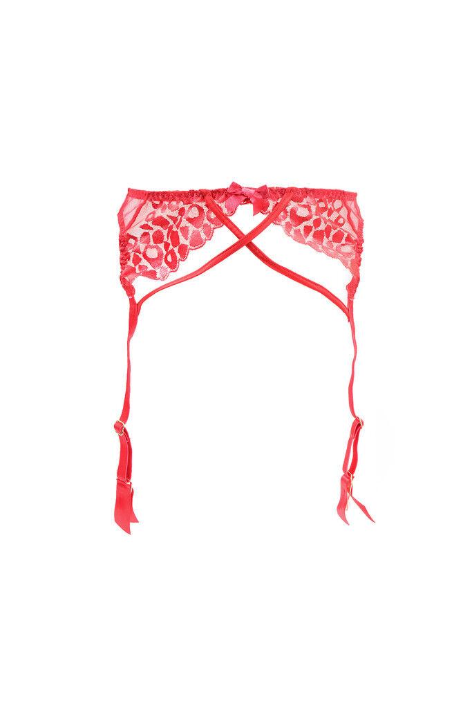 L'Agent by Agent Provocateur Women's Unique Print Suspender Red M RRP  BCF89