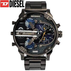 ee692f4cd0d2 ✓ DIESEL Mr. Daddy 2.0 DZ7331 Gunmetal Blue Denim Wrist Watch for ...
