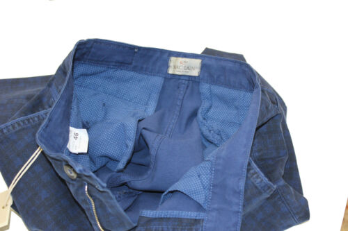 pantalone uomo slim cotone quadri chinos fashion moda microfantasia made italy