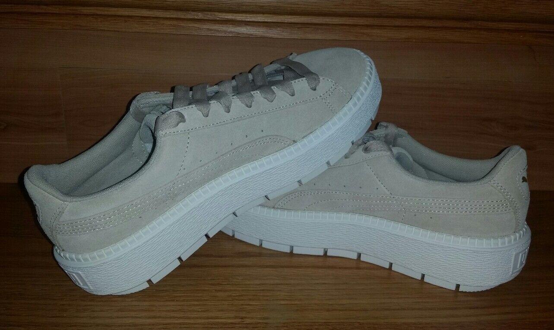 Puma Trace Platform Suede Sneakers 365830 02 Women US US US 8.5 Beige Safari NEW  110 83ae3d