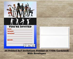 Fortnite Fill In Birthday Invitations 25 Cards 25 Envelopes