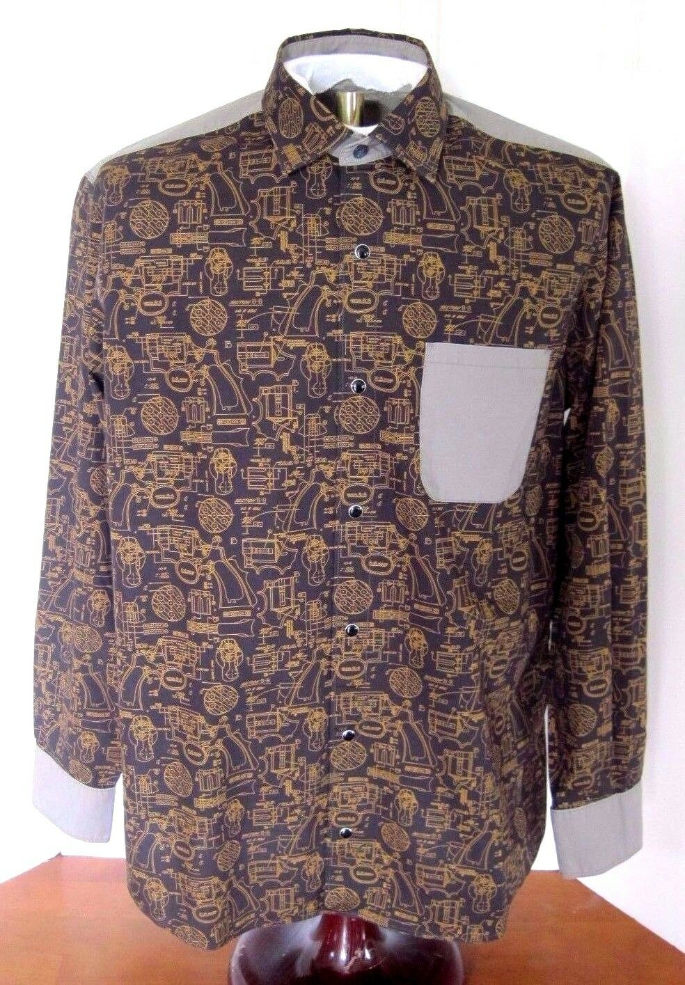 NWOT Cooper Jones Supply Hipster Gun, Firearm Snap Long-Sleeve Shirt, Medium