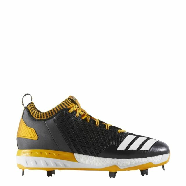 3d56469c0347 New Adidas Boost Icon 3 Metal Baseball Cleats B39163 Black Gold White Size  12 M