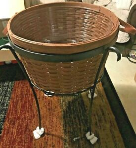 NEW-Longaberger Wrought Iron Party/Beverage Stand & New Workaround Basket