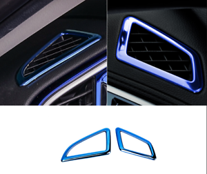 For Honda Civic 2016-2018 Blue Steel Dashboard Upper Air Vent Frame Trim *2