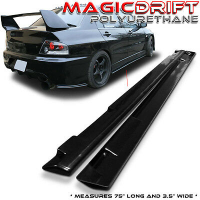 "UNIVERSAL JDM POLY-URETHANE PU SIDE SKIRTS ROCKERS FLAT EXTENSION 75"" x 3.5"""