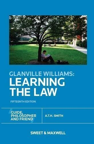 1 of 1 - Very Good, Glanville Williams: Learning the Law (Fifteenth Edition), A.T.H. Smit