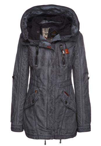 Damen Parka Übergangsjacke Loipe Vintage Mantel Kapuze Navy Khujo Frühling 4RUFSnn