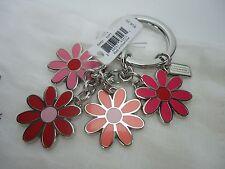 NWT COACH PINK FLOWERS MIX MULTI COLORED KEYCHAIN KEY FOB F69937