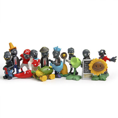 Zombies Figures Set PVZ Toy Display Collection Xmas Gift New 40PCs Plants vs