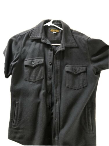 Iron Heart Flannel Shirt Large Black