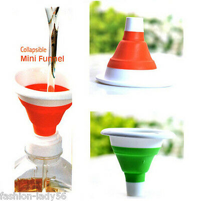1Pcs New Tiny Plastic Funnel Set Easily Fill Bottles - Ideal Home or Kitchen