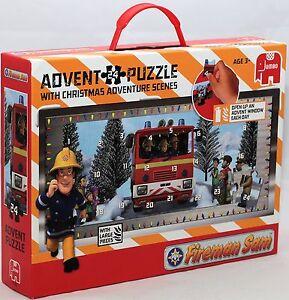 Jumbo-17336-Feuerwehrmann-Sam-Puzzle-24-Teilig-Adventskalender-NEU-OVP
