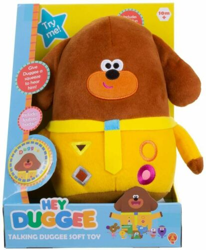 TALKING HEY DUGGEE PLUSH BRAND NEW IN BOX 10 MONTHS AND UP GOLDEN BEAR