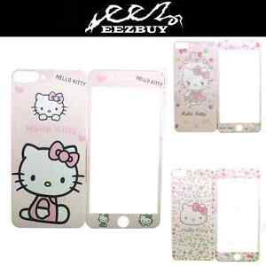 Cartoon-Hello-Kitty-Carbon-Screen-Protector-Front-amp-Back-For-iPhone-7-7-Plus