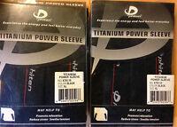 Set Of 2 Phiten Titanium Power Sleeve (4 Sleeves) Reduce Stress. Black X-large