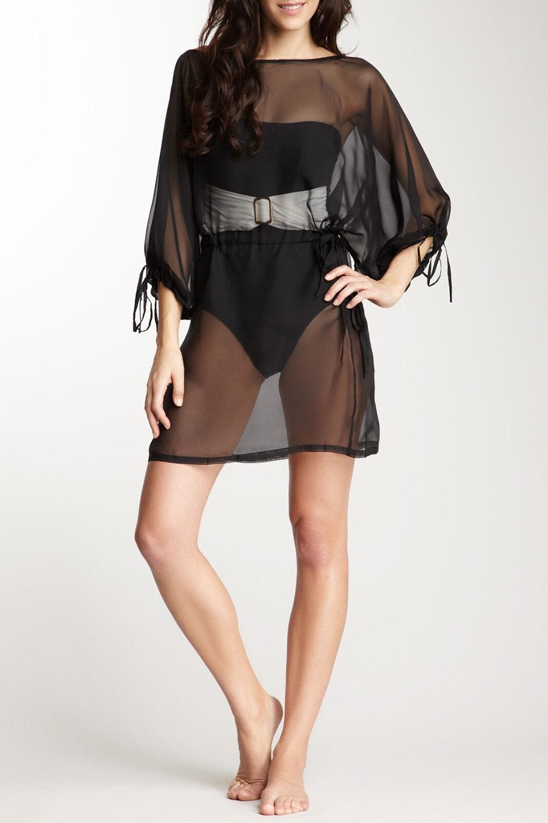 NWT SPANX Shapewear  148 Swimsuit Sheer Wrap Cover Up Tunic Dress Swimwear L XL