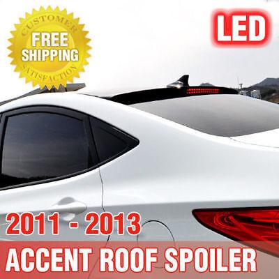 OEM Roof Glass Wing Lip Spoiler Phantom Black for 2011-2017 Hyundai Accent