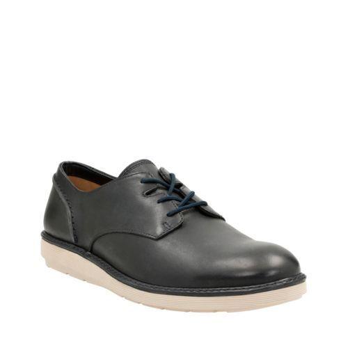 Clarks Para Hombre Zapato De Cuero Azul Marino Informal Encaje fayeman 26124467