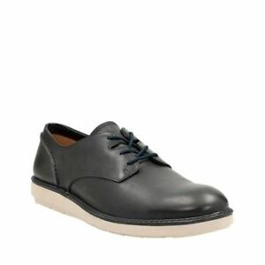 Image is loading Clarks-Men-039-s-Fayeman-Lace-Navy-Leather-