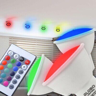 2er Set RGB LED Leuchtmittel 4 Watt GU10 Dimmer Strahler Fernbedienung Reflektor