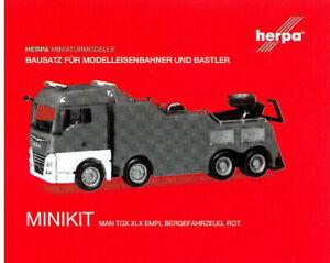 1//87 Herpa MiniKit MAN TGX XLX Empl Bergefahrzeug rot 013581