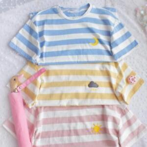 Sweet-Lolita-Small-Fresh-Stripe-Harajuku-T-shirt-Short-Sleeve-Summer-Tee-Girl