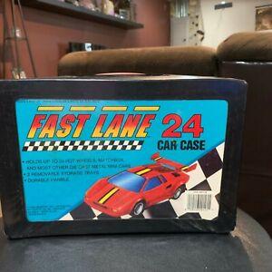 1990-Geoffrey-Inc-Toys-034-R-034-Us-24-Car-Case-Diecast-Fast-Lane-Hot-Wheels-Matchbox