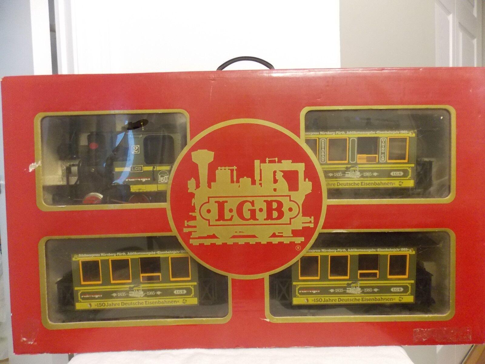 L.G.B. 1985 The Big Train 150 Jahre deutsche eisenbahnen conjunto  20530