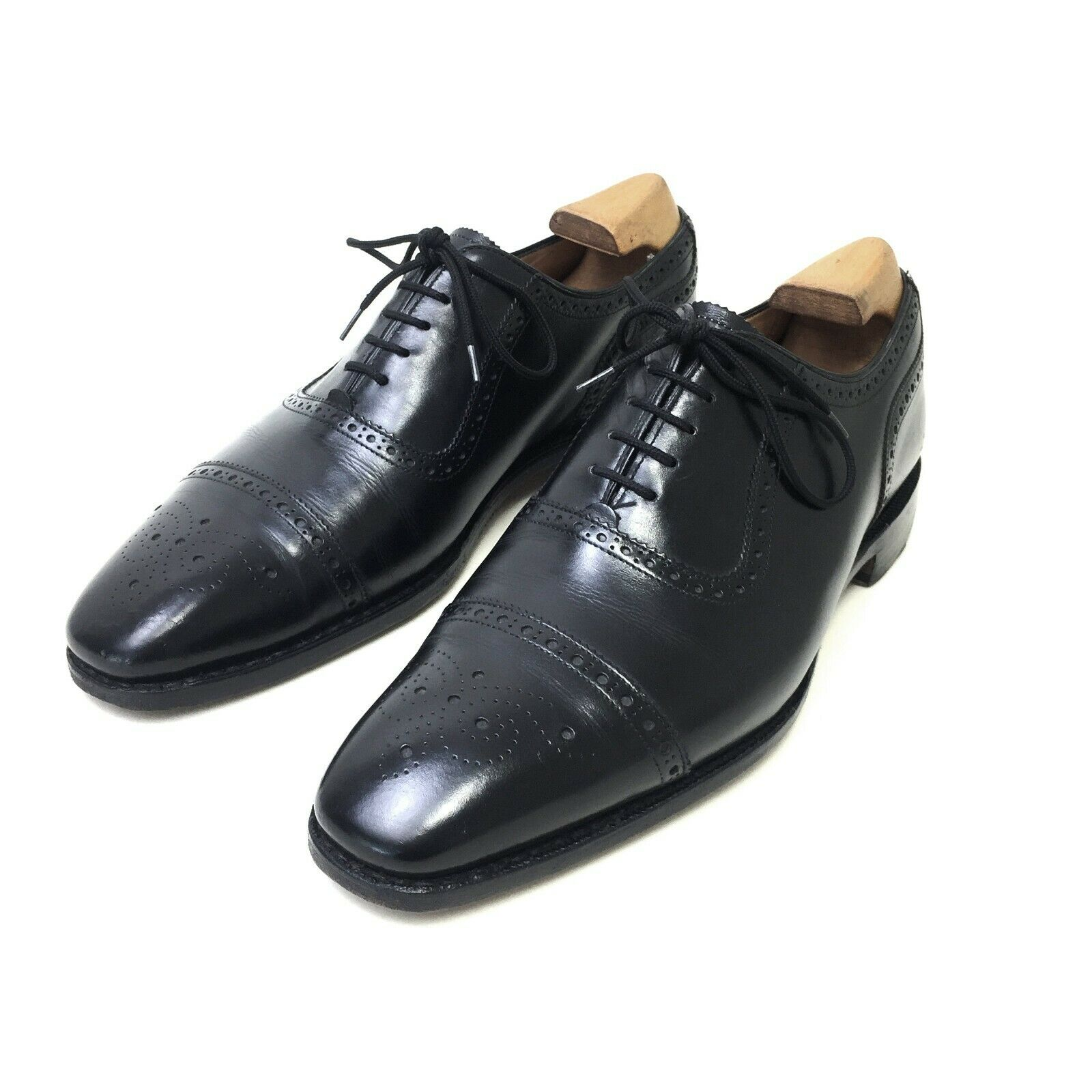 Gieves & Hawkes Oxford shoes. Black Calf leather. Size 8.5 UK, 42.5 EU