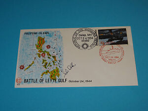 WWII FDC #83 Battle of Leyte Gulf Philippines Japan Admiral Halsey