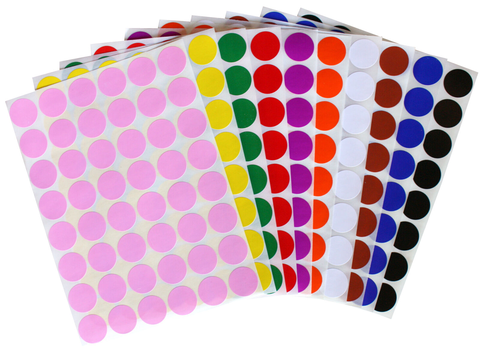 Details about Color Coding ~5/8 Inch 17mm Small Dots Stickers Round  Circular Labels 336 Pack