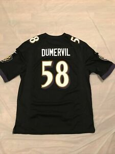 Nike NFL Baltimore Ravens Elvis Dumervil # 58 Jersey Sz L   eBay