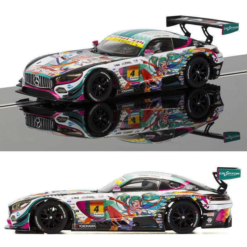 SCALEXTRIC Slot Car C3852 Mercedes AMG GT3 (Anime)