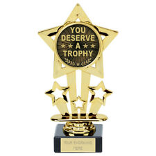Personalised Mini Star You deserve a Trophy 8 cm ENGRAVED FREE gw