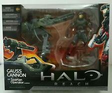 HALO Reach GAUSS CANNON with Spartan Operator Custom JFO Toy